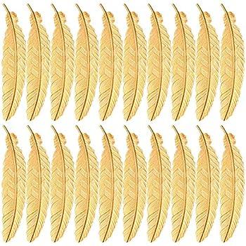 14 marque-pages en m/étal avec plume SUNSHINETEK marque-pages en forme de marque-pages en m/étal pour adultes et enfants 7 couleurs