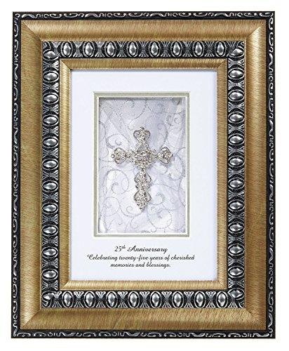 CB Geschenk schimmernden Faith 25. Jahrestag Tisch Top Frame, 25th Anniversary, 8 x 10