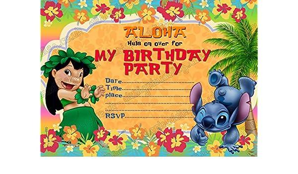 Lilo Stitch 40 Kids Birthday Party Invitations With 40 Envelopes