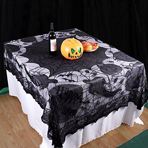 Halloween Deko Tischdecke Kürbis Tür Tisch Fenster Dekoration Spinnennetz Vorhang(Tischdecke)