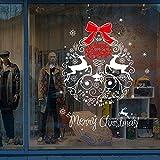Prevently Weihnachten Fensterbilder Weihnachtssticker,Weihnachtsmann Schneemann Elk Aufkleber Fenster Dekor (Colour B)