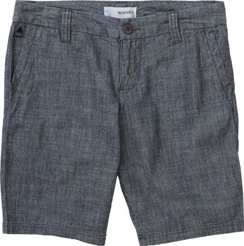 Burton Walker - Pantaloncini da donna, Donna, Pantaloncini, 11979101444, Dark Chambray, 28/7