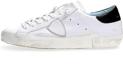 Philippe Model Sneaker da Uomo Paris X in Pelle Bianca, Taglia UK:
