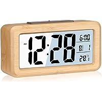 Réveil,Horloge Numérique,Réveil Numérique avec Grand Écran LCD, Affichage De La Date Et De La Température avec Fonction…