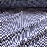 Stoff Baumwolle Seersucker Vichy Karo dunkelblau weiß 2,5