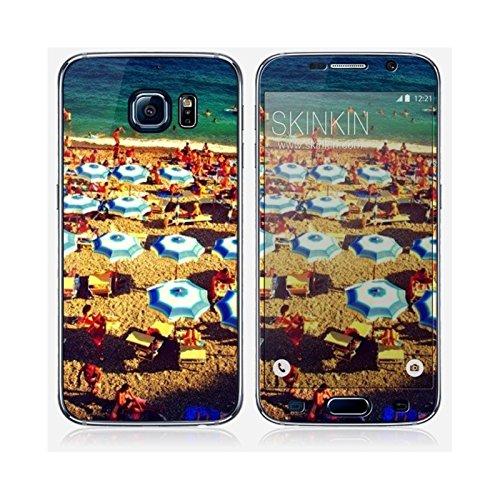 Coque iPhone 6 et 6S de chez Skinkin - Design original : Parasols par Pierre-Henry Precigout Skin Samsung Galaxy S6
