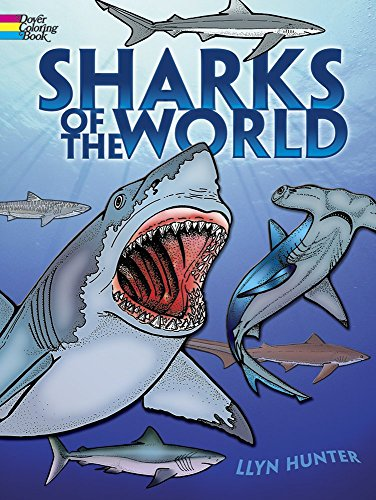 Sharks of the World Coloring Book (Dover Nature Coloring Book) by Llyn Hunter (28-Mar-2003) Paperback