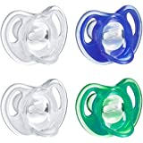 Tommee Tippee Ultra-Light Silicone Baby Pacifier, Boy - 18-36M, 4pk