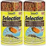 Tetra Selection (Hauptfutter-Mischung in 4 Sorten für Zierfische Aller Wasserzonen), 2er Pack (2 x 250 ml Dose)