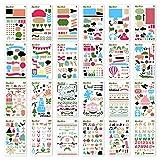 KEDIOR Leuchtturm Bullet Journal pochoir,24 Pièces pochoirs enfant,Accessoires pour bricolage Dessin sur Scrapbooking