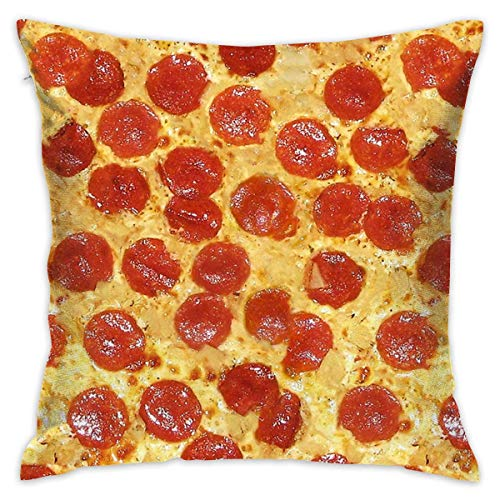 Delicious Pizza Throw Pillow Cases Square Cushion Cover for Cars Sofa Bars Home Decorative 18x18 Pillowcase (Werfen Eines Baby-halloween-party)