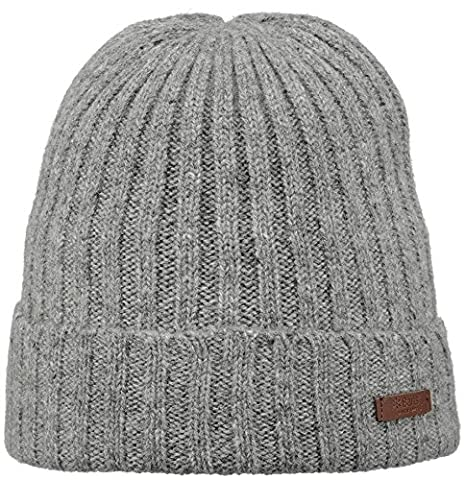 Barts Haakon Turnup, Béret Homme, Gris (Heather Grey), Taille Unique (Taille Fabricant: Unica)