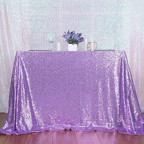 3e Home Pailletten-Tischdecke für Party-Kuchen Dessert-Ausstellung, Events, lavendel, 72x72