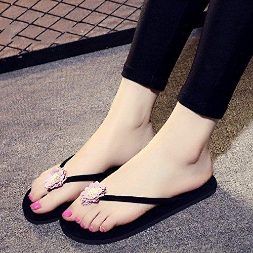 LIXIONG Portable 5 sortes de couleurs Flip flop à plat pour femme de 18 à 40 ans -Chaussures de mode ( Couleur : 1001 , taille : EU39/UK6/CN39 ) 1002