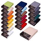 SPANNBETTLAKEN WASSERBETTEN BOXSPRINGBETTEN 180x200 bis 200x220 170gr Öko Tex Zertifikat Avantgarde 100% Baumwolle 19 Farben (07-leinen)