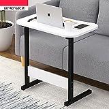 YNN Laptop Schreibtisch Schlafzimmer Bett Schreibtisch tragbaren Nachttisch Lift Tabelle Faul Tisch Frühstück Tabelle 60 * 40 * 68 cm (Farbe : B)
