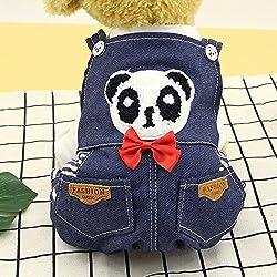 Roblue Dog clothes double face cartoon strap shirt - deep blue panda pet vest by YEAH