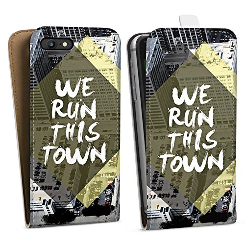 Apple iPhone X Silikon Hülle Case Schutzhülle Stadt Sprüche Statements Downflip Tasche weiß
