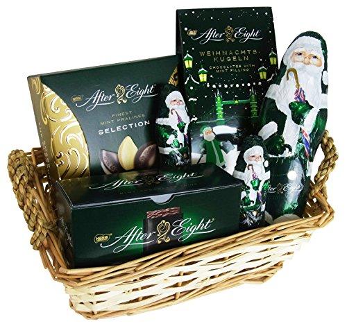 Cesta de Navidad con Nestlé After Eight (6 piezas)