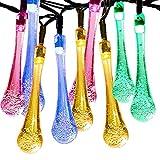 Satu Brown Guirlande lumineuse 30 LED solaires pour jardins, arbres de Noël, chemins, fêtes Multicolore 6,5m