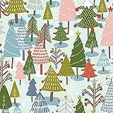 Fabric Editions Weihnachtsstoffe, Motiv Happy Holidays,