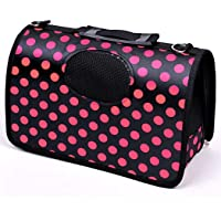 PSK PET MART Fabric Crate Airline Approved Dog Travel Carrier Kennel (20.4 x 8.6 x 11.4 Inches)
