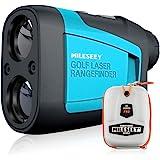 Mileseey Telemetro Golf 660yd/600M, Telémetro Láser Golf con Compensación de Pendiente, Precisión ±0.55yd, Flag-Lock, Aumento