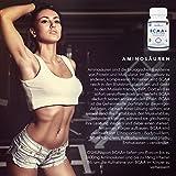 BCAA Tabletten | 1200mg verzweigtkettige Aminosäuren | BCAA+ mit zugesetztem Vitamin B6 als Absorptionhilfe | Leucin, Isoleucin und Valin im optimalen 2 1 1 Nährstoffverhältnis | Aminosäure-Tabletten (nicht Kapseln) | Geeignet für Männer und Frauen | in GB erzeugt und GMP-zertifiziert | OSHUNsport Ernährung | Einführungsangebot nur für begrenzte Zeit - 2