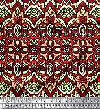 Soimoi Rot Baumwoll-Voile Stoff marokkanische Damast