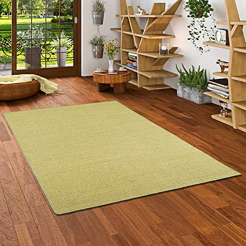 Astra Sisal Natur Teppich Grün in 24 Größen