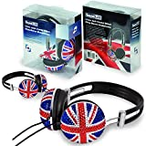 Casques HIFI Soundlab design BRITISH Edition 'Bling-Bling' - A081A PACK x2