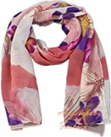 Finecy In - Women & Ladies Fashion Scarf Wrap with Colourful Flowers Printing