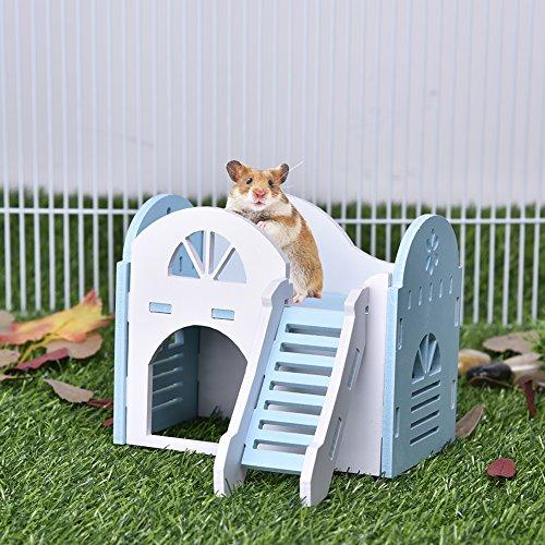 Haustier-Villa, doppelstöckig, wetterfest, für Mäuse, Ratten, Meerschweinchen, Hamster, etc.