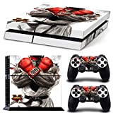 Sticker Autocollant 'Street Fighter V' pour Console PS4 et Dual Shock 4