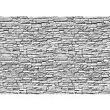 Fototapete Stein - ALLE STEINMOTIVE auf einen Blick ! Vlies PREMIUM PLUS - 200x140 cm - ASIAN STONE WALL No. 2 - GREY - Steintapete Wandbild Steinwand Steintapete Asia Stone Asien - no. 139