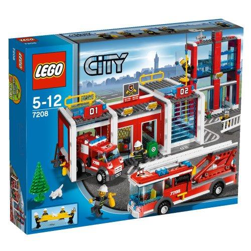 Preisvergleich Produktbild LEGO City 7208 - Große Feuerwehr-Station