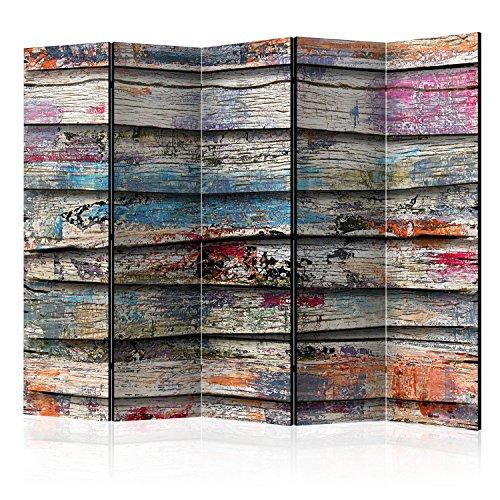 murando Paravent & Tableau daffichage en Liege: 225x172 cm Réversible Impression Recto-Verso sur Toile intissée 100% Opaque Foto Paravent decoratif en Bois avec Interieur Impression f-B-0105-z-c