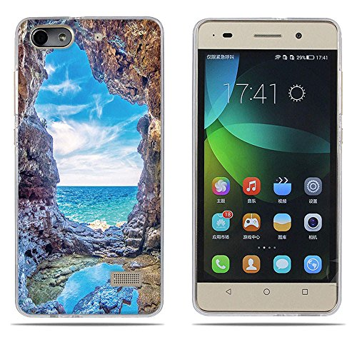 DIKAS Handyhülle für Huawei Honor 4C, Hülle für Huawei G Play Mini, TPU Softcase Silikon Tasche Anti-Scratch Telefon-Kasten Handyhülle Handycover für Huawei Honor 4C / Huawei G Play Mini- Pic: 08