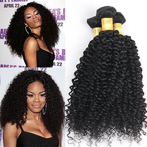 (16 16 40,6 cm) tissage cheveux vierges brésiliens Ondulés 3 lots cheveux non traités Extensions de cheveux humains Couleur naturelle peut être teints et cheveux décolorés