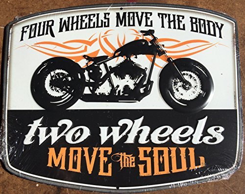 four-wheels-move-the-body-two-wheels-move-the-soul-motorcycle-tin-sign-by-sunoco-gas