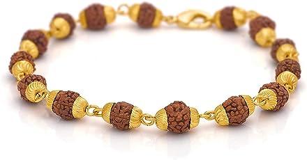 Miami Men Branded Jewellery Rudraksh Gold Kada Bracelets for Men Man Boys Boyfriend Cuff & Kadaa Bracelet For Men-BRACELET-903