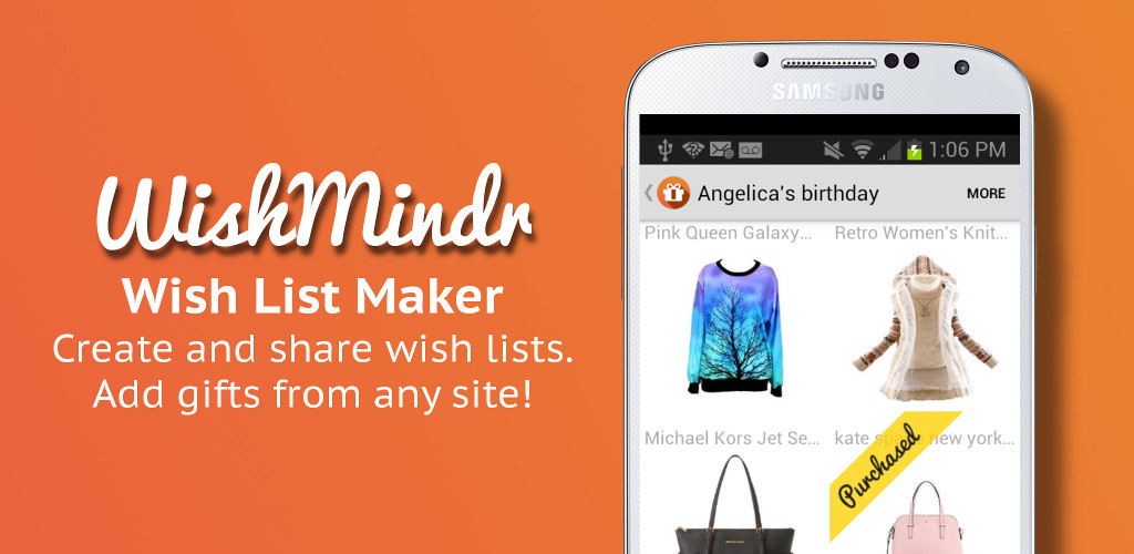 Wishmindr Wish List App Amazon Co Uk Appstore For Android