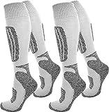2 Paar normani® Thermo Ski-Socke, atmungsaktiv und schützend Farbe Grau/Weiß Größe 39/42