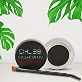 Chubs Multipurpose Eyebrow Gel and Gel liner with brush (Charcoal black )