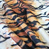 Stoff Meterware Tiger Tigerfell Fellimitat Kunstfell Velour