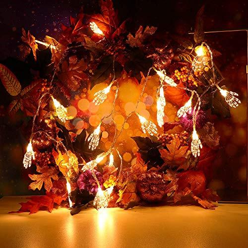 String Light TAOtTAO 2,5 m Halloween String Light mit 20 LED-Lichtleiste Party Garden Patio Dekoration (Gelb)