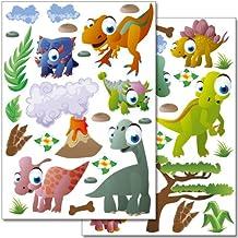 Pegatinas para la pared Wandkings «Dinosaurios» - más de 40 unidades en 2 hojas DIN A4