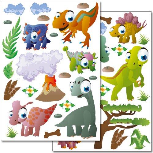 adesivi-da-parete-wandkings-dinosauri-set-adesivi-oltre-40-adesivi-su-2-fogli-din-a4