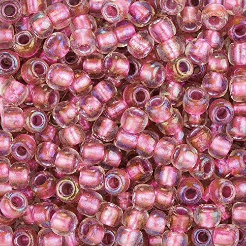 Toho Perlen 3Rocailles Farbe Innenseite Kristall/Rose Gold gefüttert (Rohr Gefüttert-rose)