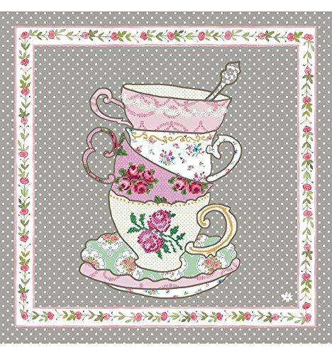 TT73 Clayre & Eef - Tea Time - Serviettes de papier - Set de 20 ca. 33 x 33 cm